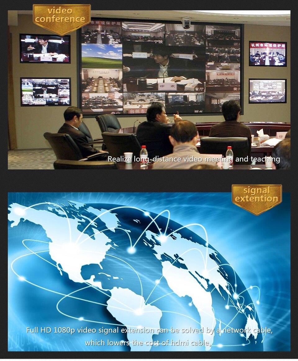 hdmi extender 120m Over Ethernet tcpip rj45 cat5 cat5e cat6 HDMI Splitter hdmi extender Transmitter Receiver for hd DVD PS3 (6)