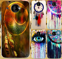 Colorful Multi Styles Dream Catcher Telephone Booth Letters PC Phone Case Skin Shell For  HTC Desire 601 Phone Cover