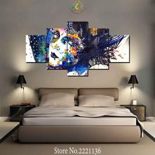 3 or 5 Pieces Colorful Mosaic Artwork Modern Wall Art Canvas Printed Painting HD Prints Modular Poster Wall Pictures(China)
