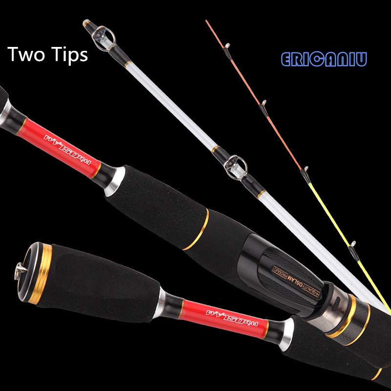 0.9m Carbon Fiber Mini Boat Fishing Rod two tips For Winter Fishing Pole Rod Ice Fishing Gear Kits Telescopic Spinning Lure Rod(China (Mainland))