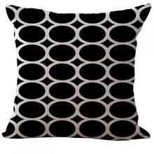 Factory Supply  Geometric Abstract Art Linen Decorative Throw Pillow Cushion For Office Chair