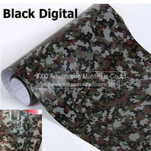 10/20/30/40/50/60x152cm/Lot High quality Black Digital Camouflage Vinyl Sticker for car body decoration Digital car wrap film