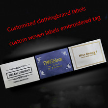 500pcs Customized clothing/shoes/ bags/ garment brand labels custom woven labels embroidered tag