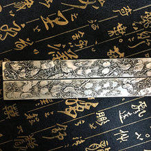 China 's Tibetan Silver Block statue of the press cardboard, bookmarks, beautifully engraved book counter(China)