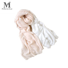 MEICHE Luxury Brand fashion Autumn Winter Warm Two color patchwork Shawls Wraps Bells Winter scarf Christmas gift(China)