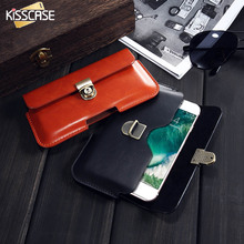Buy KISSCASE Universal Leather Wallet iPhone X 8 7 6 Plus 5S Case Wallet Waist Bag Samsung Galaxy Note 8 S8 S7 S6 Edge Pouch for $4.99 in AliExpress store