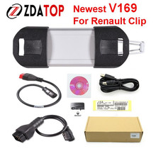 ZOLIZDA Top-Rated professional Multilanguage Auto Diagnostic Interface Renault Can Clip V169 Latest Version DHL Free Shipping
