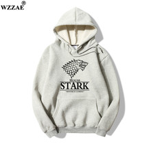 2017 New Design Game of Thrones House Stark of Winterfall Sweatshirt Hoody Fleece Winter Hoodies Men Hip Hop Hoodies Top Quality