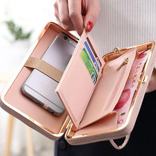 Purse wallet female famous brand long pu leather coin purses card holders cellphone pocket gifts for women money bag clutch Z50