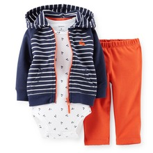 LSL3-040,Original,New Item, Baby Boys 3-Piece Hooded Cardigan Set, Spring And Autumn Wear, Free Shipping(China)