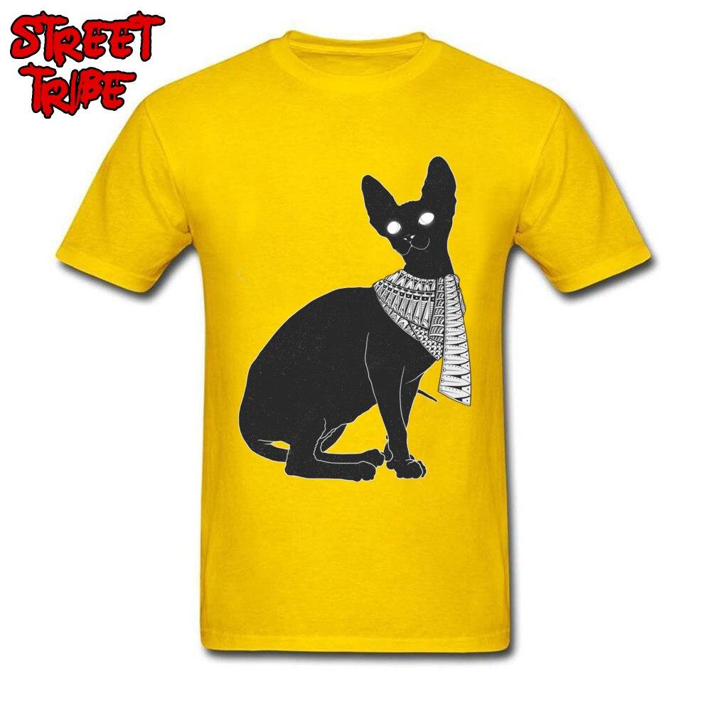 Alien Cat Tops Shirt Oversized O Neck Casual Short Sleeve All Cotton Mens T Shirts Group Tops T Shirt Wholesale Alien Cat yellow