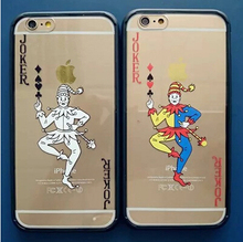 Poker Boss White and Colorful Joker Case Cover For Apple iPhone 6 Case Cartoon 6 Series Transparent Soft Case For Phone