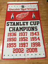 NHL Detroit Red Wings Stanley Cup champions ship flag 100D polyester digital printed banner(China)