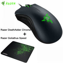 Razer DeathAdder Chroma 10,000 DPI Sensor Ergonomic Gaming Mouse +Razer Goliathus Speed Cosmic Edition Mousepad 240mmx320mmx3mm