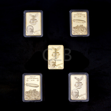 Wholesale German F.craft Von Zeppelin Gold Bar Deutsche Zeppeline Replica Gold Bars  with The Plastic Case for Gifts