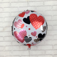 XXPWJ Free Shipping New Round Birthday Party love heart wedding balloon Decoration films balloon wholesale children's toys C-031(China)