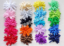 12pcs Gymbo 4'' korker Bow Boutique Girls Hair Accessories Hair Bows clip corker hair clips high quality hair bobbles PD007(China)