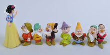 Hot Sale Children fashion Toys Snow White and the Seven Dwarfs Figures Cake Topper Doll Playset 8pcs Set Kids Gifts