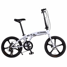 "Altruism K1 Folding Bike 7 Speed Aluminum Mechanical Disc Brake Mountain Bikes Children 20inch Bicycle 20"" 5 Spokes Bicycles(China)"