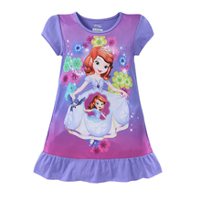 New Kids Gecelik Baby Girls Clothing Dress Christmas Girls Dress Nightdress Cartoon Princess Dress Pajamas Children Clothing(China)