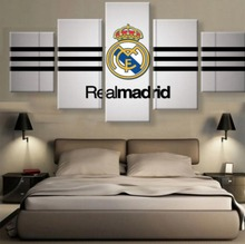 5 Panel Canvas Printed Real Madrid La Liga Painting For Living Picture Wall Art HD Print Decor Modern Artworks Football Poster