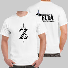Legend Zelda Breath Wild Link White T-shirt USA Size Cool O-Neck Tops Mens T Shirts Summer Hipster Top Tees - greenapple Store store