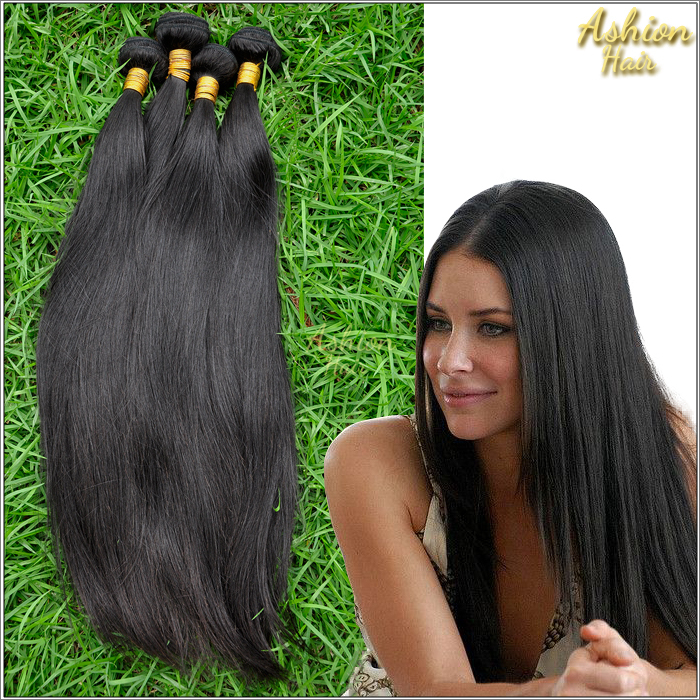 Ashion Hair 7A Brazilian  Straight Hair Weaves 10pcs/lot Unprocessed Straight Brazilian Virgin Hair<br><br>Aliexpress