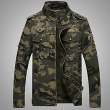 2016 Autumn New Fashion Mens Military Style Casual Camouflage Jacket Army Soldier Wear Regular Fit Mandarin Collar 3XL - Very Modern store