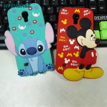 2015 New Style 3D Cartoon Mouse Cute Stitch Shape Soft Silicone Skin Case For Samsung Galaxy S4 Mini I9190 Covers Free Shipping