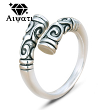 Thailand Silver Jewelry Rings As-you-will Cudgel 925 Silver Ring Women