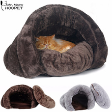 Hoopet Pet Dog Cat Bed Warm Soft Sleeping Bag Kitten House Sack Bed Kennel Cave Pet Home Blanket Mat Cushion(China)