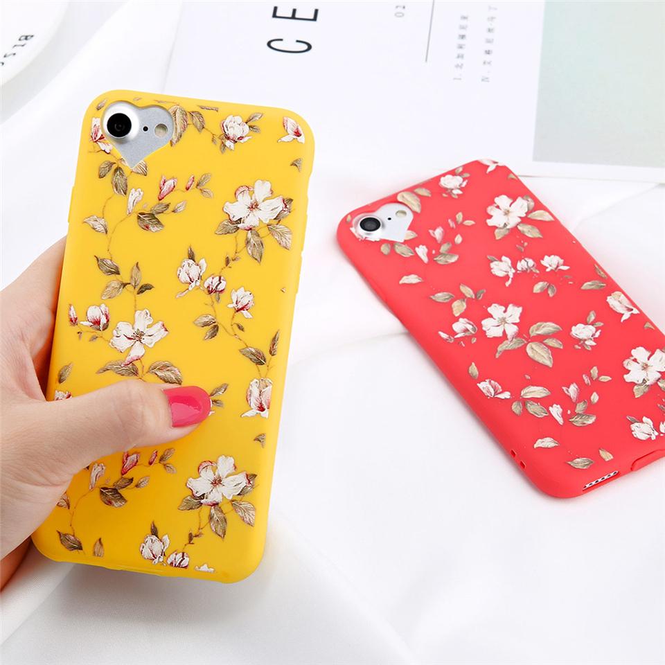 Lovebay Phone Case For Apple iPhone 5 6s 7 Plus 8 Plus Fashion Cartoon Beautiful Flower Soft TPU For iPhone 6 5s SE Phone Case