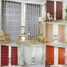 Floral Half Shading Curtain Cirrus Vine Leaf Partition French Window Curtain Simple Fashion Curtain Cut off the Floor Window(China)