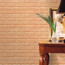 Newly Hot PE Foam 3D Wallpaper DIY Wall Stickers Wall Decor Embossed Brick Stone With different colors Freeshipping & Wholesale