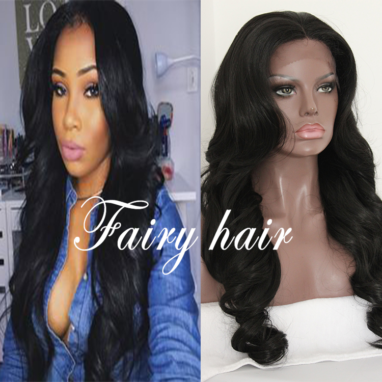 Cheap Stock Body Wave Synthetic Lace Front Wig/None Lace Wig Heat Resistant Long Wavy Hair Wigs For Black Women Free Shipping<br><br>Aliexpress