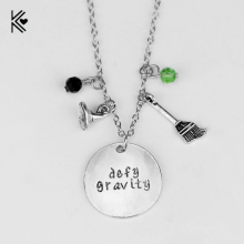 2017 Hot Sell Wicked Musical Lovers' Necklace Set Defy Gravity Handmade DIY Wicked Cartoon Fashion Jewelry Gift For Men Women