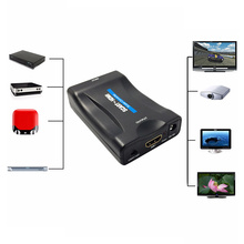 New 1080p SCART to HDMI Audio & Video HD Adapter to TV HD DVD to Sky Box Set-Top Box Plug and Play