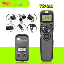 Pixel TW-283 Wireless Timer Remote Control Shutter Release for Canon Sony Nikon D90 D5100 D3200 D3300 D3100 D7100 D5200 Cameras(China)