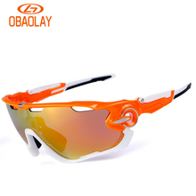 Buy Obaolay Cycling Glasses 5 Lens Windproof Anti-fog Sport MTB Bike Bicycle Polarized Cycling Glasses 5 lens men women bicycling for $20.79 in AliExpress store