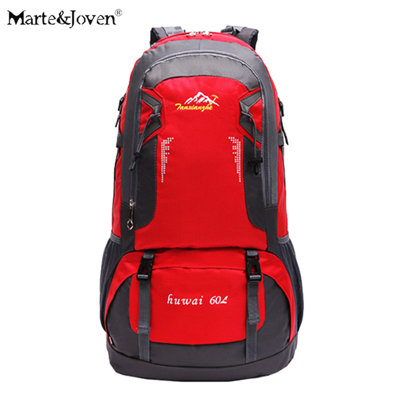 60 Liter High Capacity Unisex Waterproof  Trekking Backpacks Brand Designer High Quality Women Men Oxford Traveling Rucksacks<br>