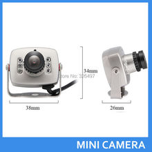 New Mini Wired Audio Mic CCTV surveillance Camera Security Color 940nm Night Vision Infrared Video Cam CMOS 3.6mm lens Cameras(China)