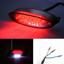 28 LEDs 12V 3W Motorcycle Led Lights Bike Rear /Tail / Stop / Brake Light Number Plate Light(China)