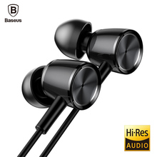 Baseus H07 Hi-Res Audio Wired Earphone Stereo Bass Sound Headset Metal In-Ear Earphone With Mic 3.5mm Jack Earbuds Earpiece(China)