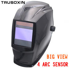 Big view eara 4 arc sensor Solar auto darkening filter TIG MIG MMA welding mask/helmet/welder cap/welding lens/eyes mask /device(China)