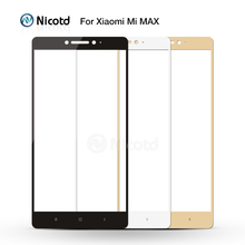 Tempered Glass For Xiaomi Max/Xiaomi Mi Max Mobile Phone 6.44 Inch Safety Full Cover Screen Protector Full Screen Film Glass(China)