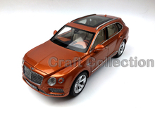 * Gold 1:18 Bentley Bentayga 2015 Luxury SUV Alloy Model Diecast Modell Auto Scale Models