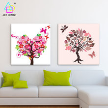 Creative Different Shap Trees Artwork Painting Home Decor Abstract Wall Picture Hanging Drawing One Piece No Frame Poster TY031