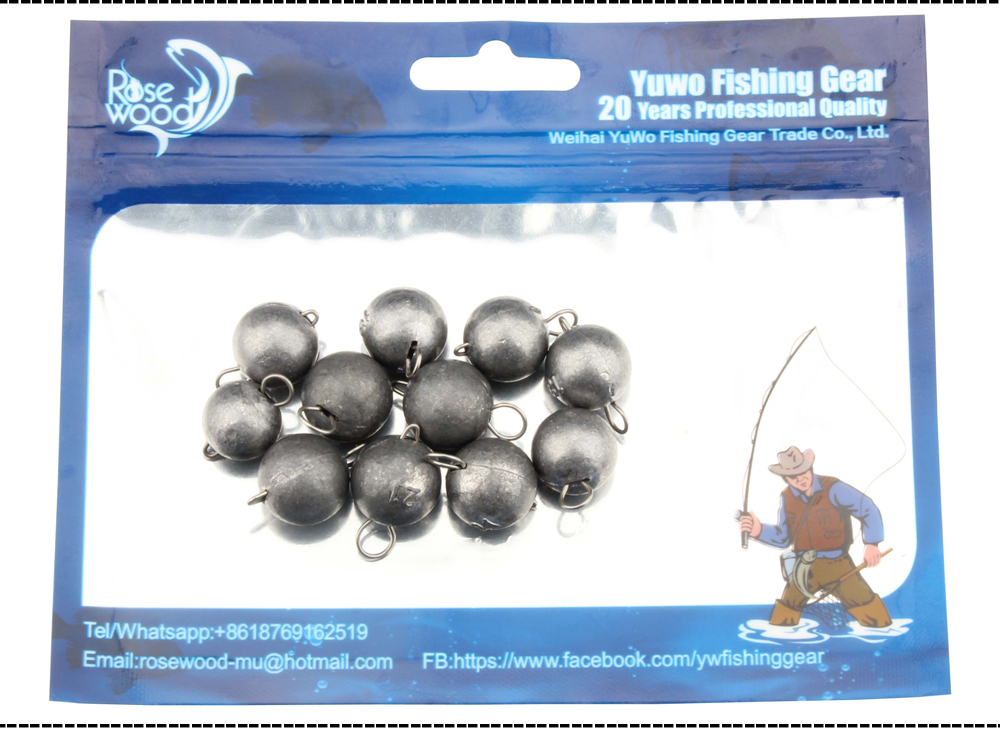 ROSEWOOD Fishing Lead Sinkers Weights 2g To 21g Quick Insert Lead Sinker Round Balls Weight Fishing Tackle Accessories  (8)