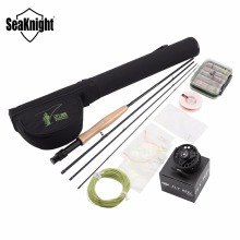 SeaKnight Maxway Fly Fishing Rod Combo Set Kit 2.1M Fly Rod +3/4 Reel+Fly Fishing Main Line +Rod Bag +24pcs Box Fly Lures(China)