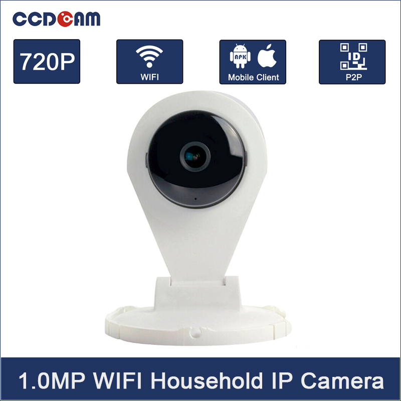 CCDCAM Free Shipping 720P mini wifi IP camera Night Vision Plug and Play Audio in/out  Onvif<br>